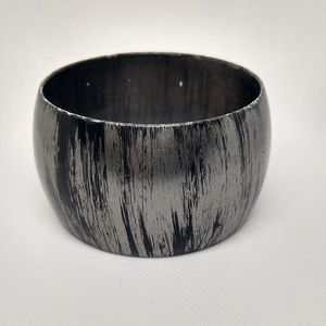 Black and Gray Wide Bracelet